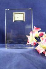 "Waterford Crystal Large Mantle Clock Polaris Metropoltan Line Art Deco 6 1/2"" T."