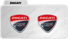 2 Adesivi Resinati Sticker 3D Ducati Corse  40 mm