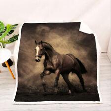 Brown Horse Velvet Plush Throw Blanket Sherpa Bedding Thick Quilt 60×80''