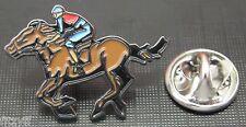 Jockey & Horse Racing Lapel Hat Tie Pin Badge Race Sporting Brooch