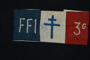 BRASSARD FORCES FRANCAISES DE L'INTERIEUR- FFI-RESISTANCE DISSAY (VIENNE)-MAQUIS