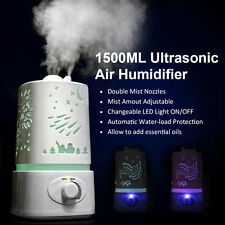1.5L Ultrasonic Aroma Humidifier Air Diffuser Purifier Atomizer LED Color Change