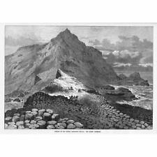 IRELAND The Giants Causeway - Antique Print 1874