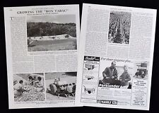FRENCH TOBACCO CULTIVATION GROWING PERIGORD DORDOGNE FRANCE PHOTO ARTICLE 1976