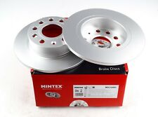2X MINTEX DISC BRAKES REAR FOR AUDI A3 SEAT SKODA OCTAVIA YETI VW GENUINE