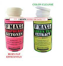 Raspberry Ketone & Green Tea Colon Cleanse Weight Loss Slimming Diet Pills bid99