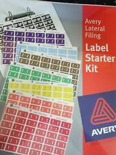 Avery Labels Lateral Filing Labels A-Z 1-13 Starter Kit Assorted Colours Used