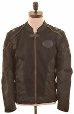 HARLEY-DAVIDSON Mens Moto Racer Jacket Size 36 Small Black Polyester  CD01