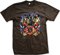 Fire Dept Firefighter Axe Rescue Service Gas Mask Fireman Helmet Men's T-Shirt