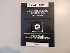 Service manual diagnostic Werkstatthandbuch Dodge Viper  Modelljahr 1992-1994