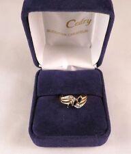 Bague or jaune saphirs et diamants / ring in 18 carat sapphire