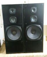 """VINTAGE Kenwood JL-801 3-Way Speaker System*10"""" Woofer*TESTED*For Restoration"""