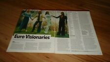 ABBA euro visionaries-magazine advert/picture/article