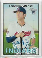 2016 Topps Heritage High Number Tyler Naquin Rookie Auto Indians RC Real One