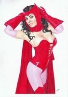 MARVEL Comics SCARLET WITCH Original Art SOPHIA LOREN COSPLAY VISION AVENGERS