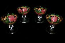 "Franciscan Apple Small 3 1/4"" Stemmed Glasses set of Four"