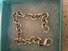 """100% AUTHENTIC TIFFANY & CO ROUND LINK CHAIN 7.5"""" BRACELET - BLUE BOX - STUNNING"""