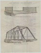 RARE Advertising Letterhead  Envelope Graphics Horseheads NY Bridge Company 1899