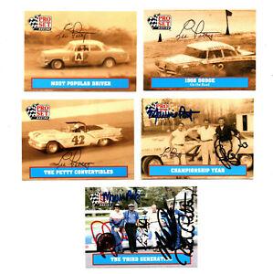 NASCAR Pettys authentic autographed Pro Set card lot NO RESERVE