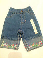 NWT Baby Gap denim jeans with floral design size 6-12 months