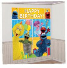 ELMO SESAME STREET BIRTHDAY PARTY SUPPLIES SCENE SETTER WALL POSTER DECORATIONS