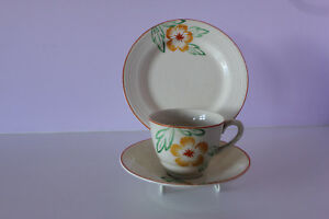 TRIO SET  (Cup, Saucer and Plate) - MADE in ENGLAND  - 1920/1930's