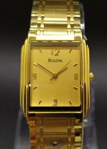 Bulova 97A17 Gold Tone Classic Dress Men's Quartz Watch