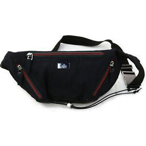 Gucci Waist Pouch Bag  Black Nylon 1216634