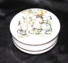 "Beautiful H.J. Hummel Hansel and Gretel Porcelain Trinket Coin Box 3.5"" Diameter"