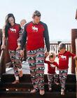 Moose Fairy Christmas Family Pajamas Set Adult Women Kids Sleepwear Nightwear