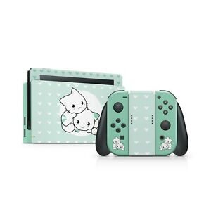 Nintendo switch skin green, Cute cats switch skin Full wrap 3m