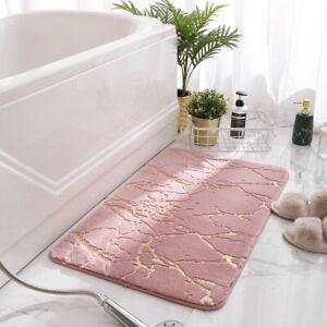 Bath Mat Non Slip Bathroom Soft Rug Absorbent Luxury Toilet Floor Golden pattern