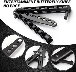 Butterfly Black Comb Toy Trainer Steel Unsharpened Practice Tool Sports Metal UK