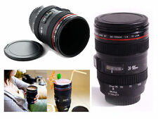 Camera Lens Mug Tea Coffee Cup Hot Drinks Mug Thermos & Biscuit Tray Lid 400ml