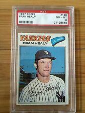 1977 Topps Fran Healy #148 Baseball Card PSA Graded 8 Near-Mint/Mint