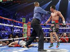 JUAN MANUEL MARQUEZ vs MANNY PACQUIAO 4 FIGHT KNOCK OUT 8x10 PHOTO