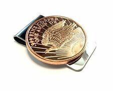 Stainless Steel Money Clip with Copper Bullion -
