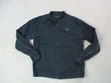 Raf Simons Fred Perry Jacket Adult Extra Large Black Green Full Zip Coat Mens *