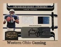 2006 Gridiron Gear Vince Young #224 Autographed Rookie Jersey Card RC 38/50 MADE