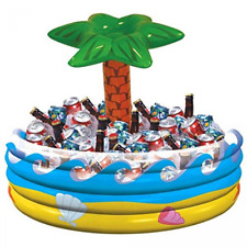 Inflatable Palm Tree Cooler With Ice Luau/Tropical /Beach/Pool/Hawaiian Party