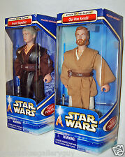 "STAR WARS ATTACK OF THE CLONES OBI WAN KENOBI ANAKIN SKYWALKER 12"" ACTION FIGURE"