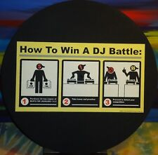"Vintage - How To Win A DJ Battle  - Beats For Jugglers - 12"" Turntable Felt Mat"