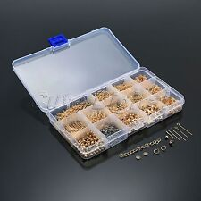 Gold Jewellery Making Components Starter Kits Beads Findings Tool with Box Set