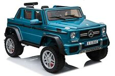 AUTO ELETTRICA PER BAMBINI 12V PICK UP Mercedes-Maybach G650 Landaulet 4X4 Blu