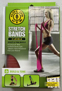 Gold's Gym Stretch Bands 3 Levels Of Resistance Sculpt & Tone Muscle