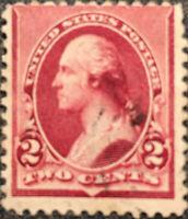 Scott #219D US 1890 2 Cent Washington Postage Stamp