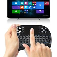 JUSTOP Q1 LED Backlit Mini Wireless Keyboard With Touchpad - Black