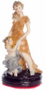 Dollhouse Miniature Mother and Son Figurine
