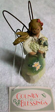 SALEM COLLECTION ANGEL HOLDING  LAMB  COUNTRY BLESSINGS  4-4632