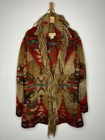 Ralph Lauren D&S Cardigan Sweater Southwestern Fringe RRL Aztec Intarsia Polo